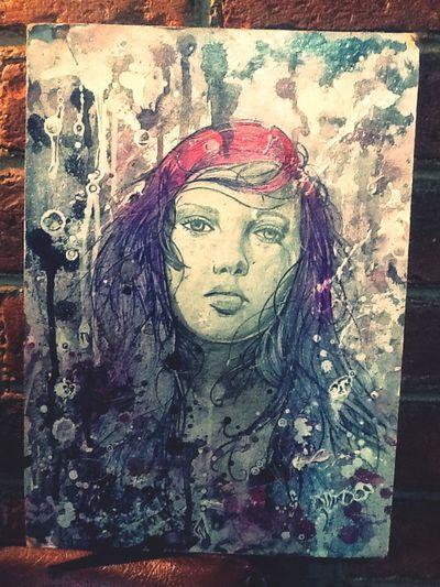 Splatt girl 1... Ilustración en acrílico y tinta (2012) Art My Art My Drawing
