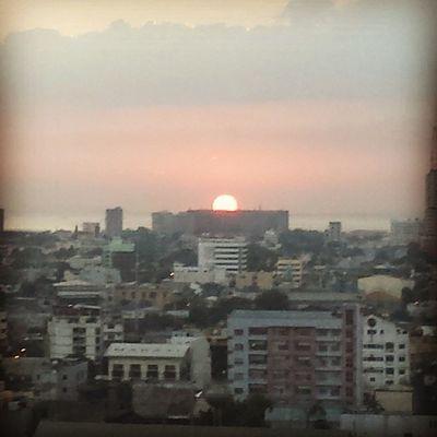 "Sunset from a distance. Still gorgeous. "")"