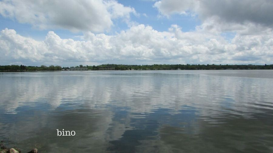 Out Shooting Afternòon Shoot Around The Lake Blue Sky White Clouds Reflection_collection Lake Cadillac Pure Michigan