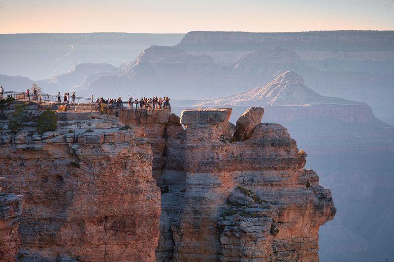 People at grand canyon national park