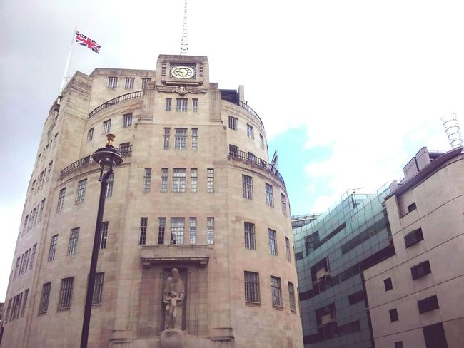 BBC BBC Television Studios BBCRadio1 Architecture Building Exterior City Politics And Government History Travel Destinations No People Flag Sky Day Outdoors Clock Clock Face london