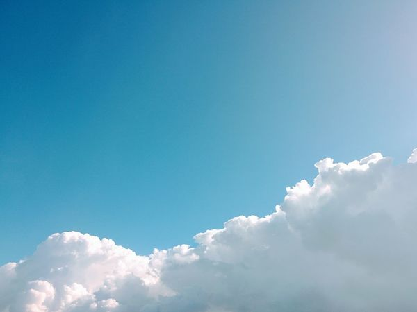 Blue Sky Cloud - Sky Low Angle View Nature Day Outdoors No People Clouds & Sky Nature On Your Doorstep Blue Sky And Clouds Shapes Atmosphere Taking Time To See The Little Things Taking Photos