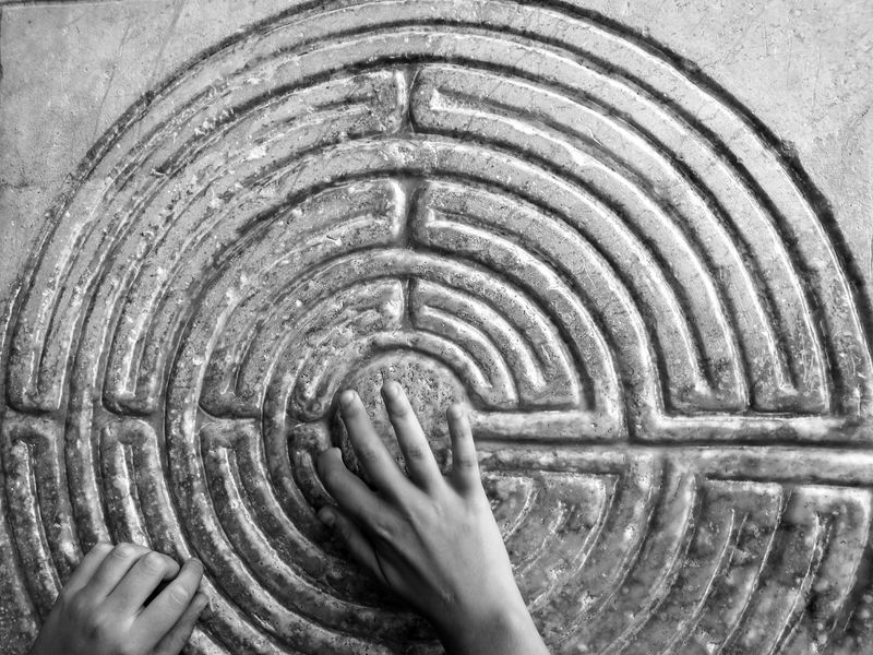 Person Black And White People Photography Hands Labyrinth Stone Church Medieval Art Sense Of Life Searching our personal way of life