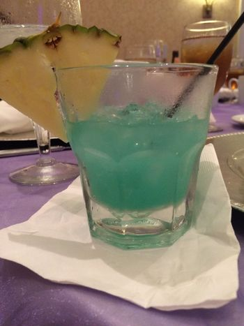 Drink Alcohol Mixed Drink Blue Pineapple Flare