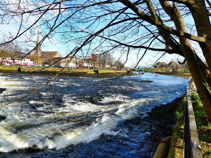 Riverside River View Levengrove Park River Leven Scotland Scenery Scenic Water