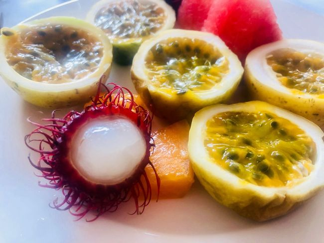 Passion Fruit Food Healthy Eating Fruit Freshness Still Life Wellbeing Close-up Ready-to-eat