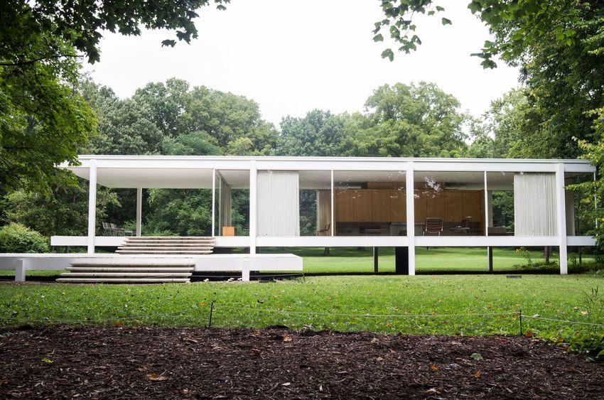 Farnsworth House Mies Van Der Rohe Architecture Midcentury Modern Illinois