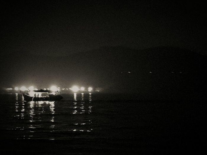 Midnight fishing - NightHong Kong No People Illuminated Outdoors Sea Beach Sky Nature Water