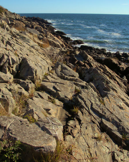 Maine Marginal Way Ocean View Relaxing Rocky Coastline Blue Sky Day Landscape No People Seascape