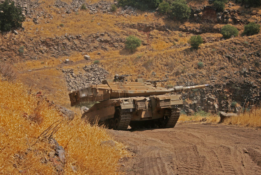 Army Tank Day Idf Landscape Mining No People Outdoors Tank
