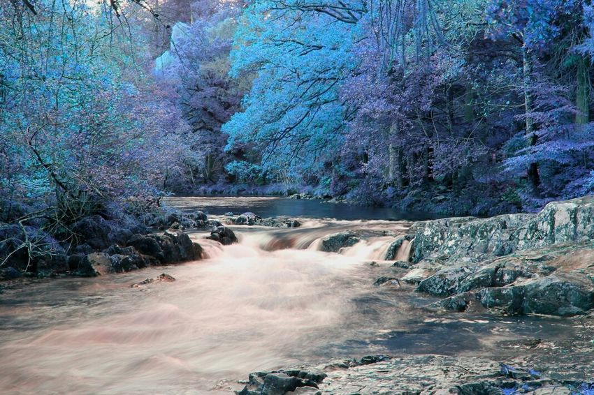 Bewts Y Coed. North Wales Water Rapids Colourfull
