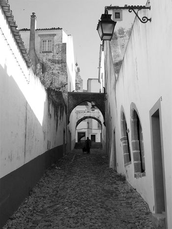 Alley Architecture Diminishing Perspective Evora, Portugal Historic City Lonely Person UNESCO World Heritage Site Vanishing Point