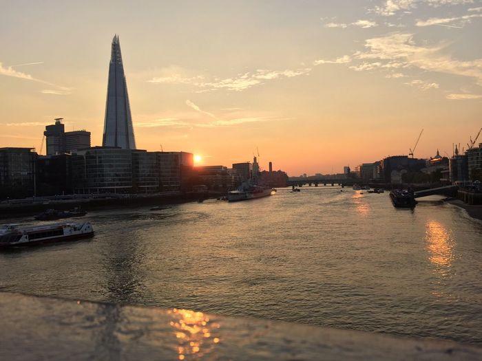 Sunset Shard London River Thames