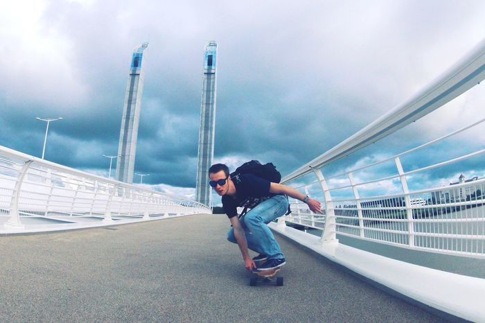 Need For Speed Sport In The City Escape from the storm !! Bordeaux France Sports Photography Longboard Stormy Weather Storm Clouds Darkness And Light Sport Gopro
