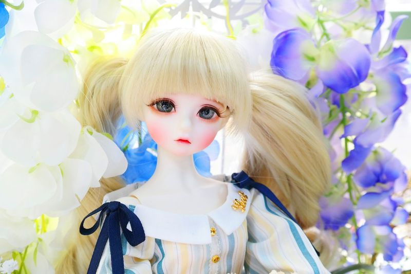 Arts Culture And Entertainment Dolls Doll Photography Blond Hair Child Children Only Nine Nine Spring Flowers Flower Spring Day Females One Young Woman Only