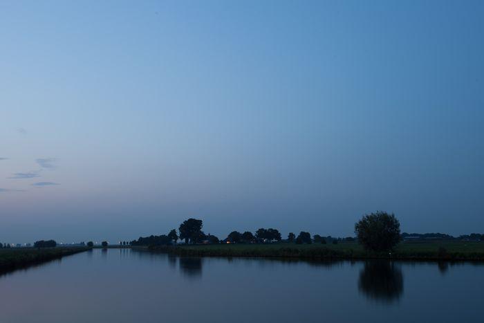 Bluehours Dusk Eem Polder Polderlandschap River Soest