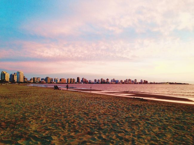 Beach Sand Sky Sea Water Nature Shore Coastline Tranquility Beauty In Nature Outdoors Tranquil Scene Scenics No People Day Seashore Skyline Punta Del Este Uruguay