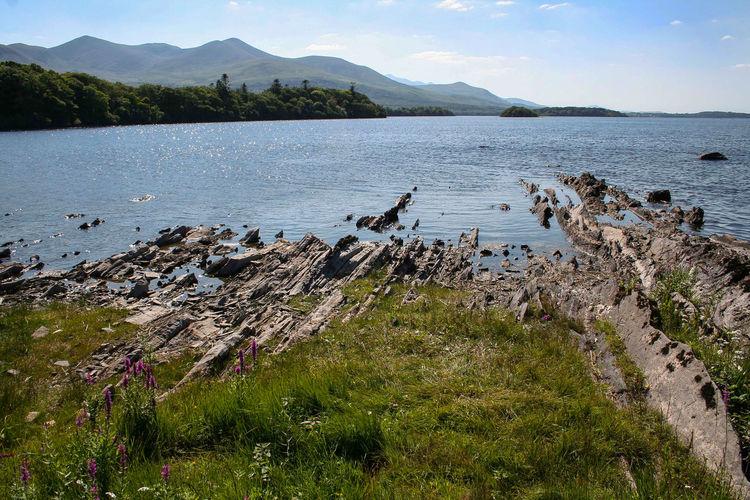Ireland Ireland🍀 Killarney  Killarney National Park Land Natural Blue Blue Sky Island Landscape Lanscape Leak Rocks Stone Water