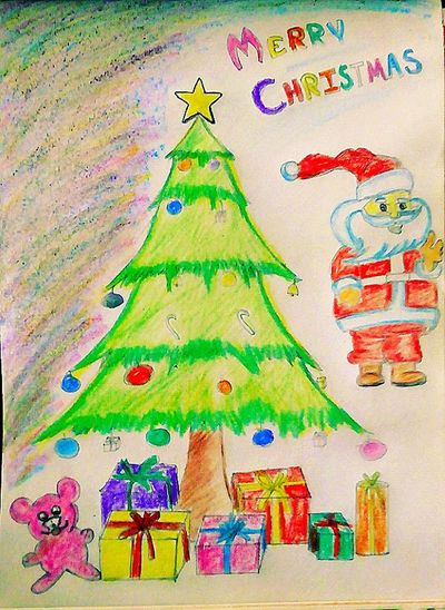 Multi Colored Art Product Celebrations MerryChristmas Merrry Christmas From Us ❤☺ Token Of Love 👑🎀🎉🎊🎍🎈🌹🌼🌷🌺🌻🌈 Own Artwork