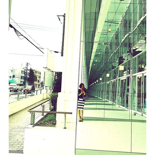 It's Rainy Day . I'm Waiting For You in front of a Art Musium . Sapporo Selfie Summer Afternoon