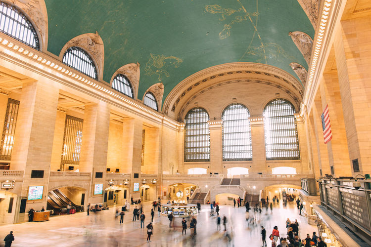 High Angle View Of People At Grand Central Station