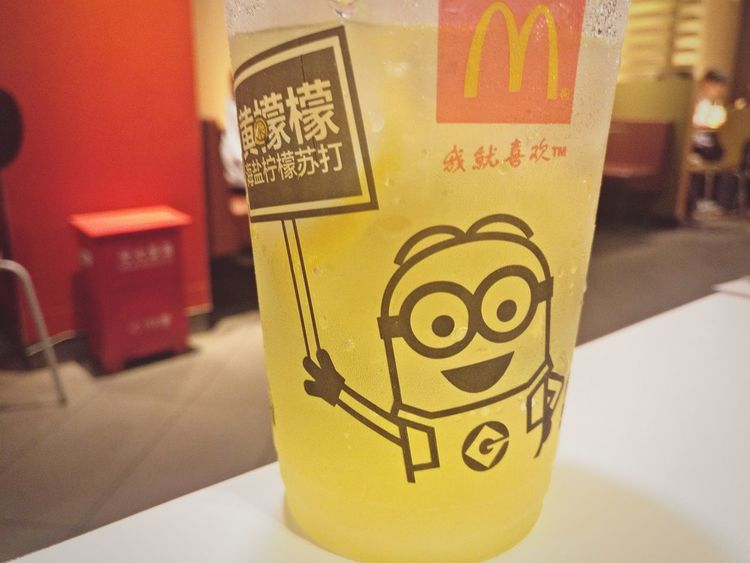 Minions Special McDonald Minions ♥♥ Close-up No People Cute♡ Drinks Lemon Juice