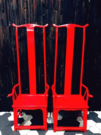 Deuce. Furniture Photography Furnitures Love Valentine Red No People Chair Day Close-up