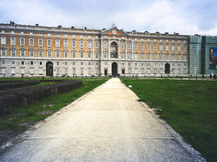 Empty Road Leading Towards Palace Of Caserta