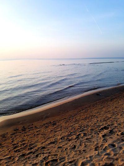 Sanset The San Rampage  Water Wave Low Tide Sea Sunset Beach Sand Dune Sand Blue Summer