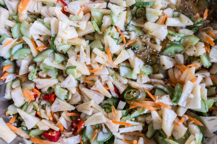 Food - Asian fruit salad Bean Sprout Chopped Close-up Day Eyeem Food  EyeEm Food Lovers EyeEm Food Photography Food Food And Drink Freshness Fried Rice Fruit Salad Full Frame Healthy Eating Indoors  No People Ready-to-eat Salad Vegetable