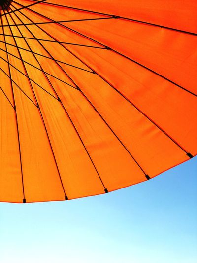Summer Orange Sun Summer Full Frame Shelter Protection Backgrounds Close-up Sky Beach Umbrella Parasol First Eyeem Photo