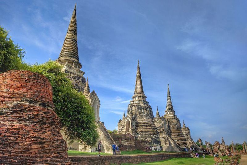 Wat phra sri sanphet temple at ayutthaya historical park against sky