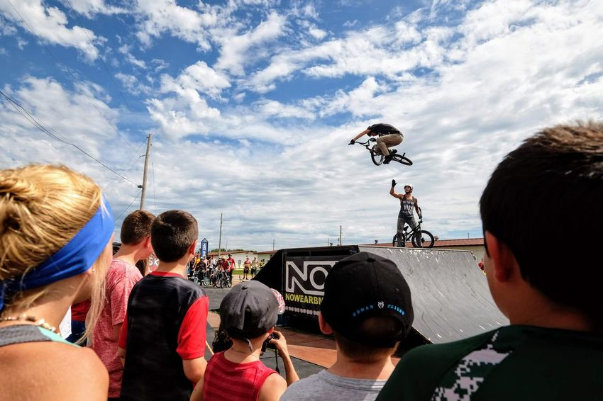 Nowear BMX Team Nebraska State Fair September 1, 2018 Grand Island, Nebraska Camera Work Check This Out EyeEm Best Shots FUJIFILM X-T1 Fujinon 10-24mm F4 Getty Images Grand Island, Nebraska Nebraska State Fair NowearBMX Photojournalism Action Action Shot  Adult Bicycle Bmx  Bmx Cycling Cloud - Sky Crowd Day Events Extreme Sports Eye For Photography Flying Freestyle Group Of People Headshot Jumping Leisure Activity Lifestyles Men Mid-air Nature Outdoors People Photography Themes Real People Rear View S.ramos September 2018 Series Sky Spectator Sport Transportation Watching Women