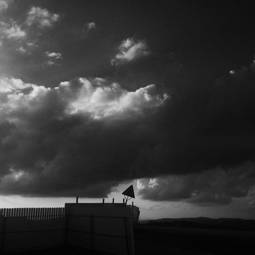 A construction site at the West Bank Jewish settlement of Eli West Bank Settlement Israel Israelinstagram Blackandwhite Bnw Black & White Clouds Construction Construction Site Sky And Clouds Sky