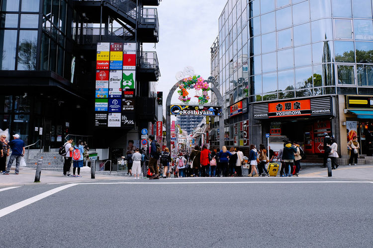 Architecture Building Built Structure Capital Cities  City City Life City Street Day Famous Harajuku Japan Large Group Of People Lifestyles Modern Office Building Outdoors Road Road Shopping Sky Spring Streetphotography The Way Forward Tokyo Travel Destinations