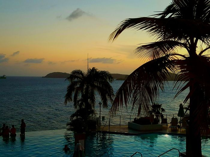 Spectacular island sunset view in St. Thomas USVI Waves, Ocean, Nature Sunset_collection EyeEm Gallery Ocean View EyeEm Best Shots Stthomas Vacation EyeEm Nature Lover Islandlife Waves Life Is A Beach Travel Photography Eye4photography