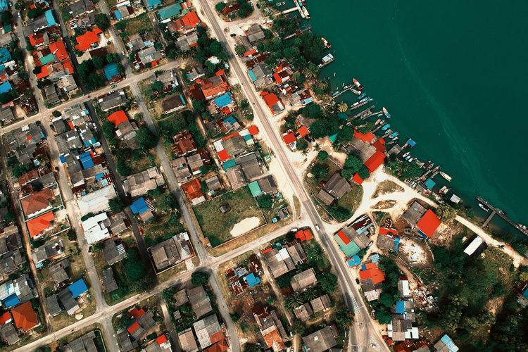 Aerial View Architecture Building Building Exterior Built Structure Business City Cityscape Day Harbor High Angle View Mode Of Transportation Nature Nautical Vessel No People Outdoors Sea Transportation Water