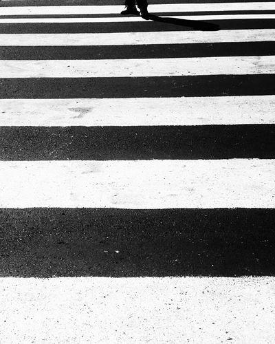 Zebra Crossing Striped Eyemphoto PhonePhotography Ethiopia Randomshot Addis Ababa Home Eyemphotos Black & White Blackandwhitephotography Sunny Afternoon Phonecamera Outdoors Road Crosswalk Asphalt B&w