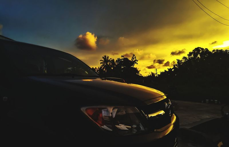 EyeEm Selects Car Cloud - Sky Sunset Tree No People Transportation Sky Outdoors Day The Great Outdoors - 2017 EyeEm Awards