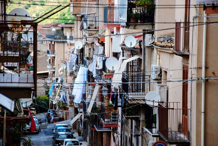 Collesano Chaos Lifestyle Mediterranean  Typical Italian Italy Built Structure Architecture Building Exterior Day No People Mode Of Transportation Land Vehicle City Outdoors Residential District Street