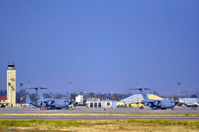 Planes at air force base