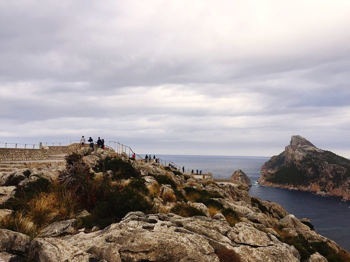 Cap Formentor Sea Tranquil Scene Tranquility Rock - Object Water Cliff Sky Cloud - Sky Leisure Activity Beauty In Nature Tourism Rocky Nature Rock Formation Non-urban Scene Geology Cloud Cloudy Outdoors