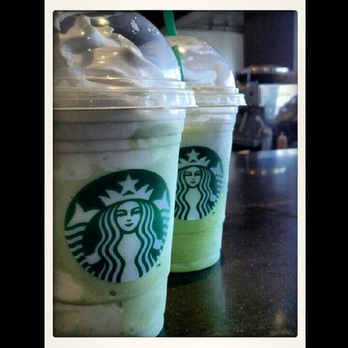 Savannah made me a special green tea frapp for me the other day. WhipCreamForDays