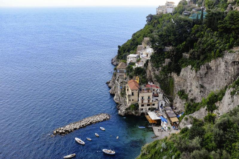 Amalfi  Amalfiküste Coastline Conca Dei Marini Costiera Amalfitana High Angle View Italia Italy Sea Urban Beauty