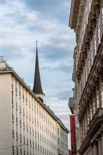 Buildings in historical city centre of Vienna City European  Vienna Architecture Austrian Building Exterior Built Structure Cloud - Sky Day Low Angle View No People Outdoors Ravel Residential Building Sky