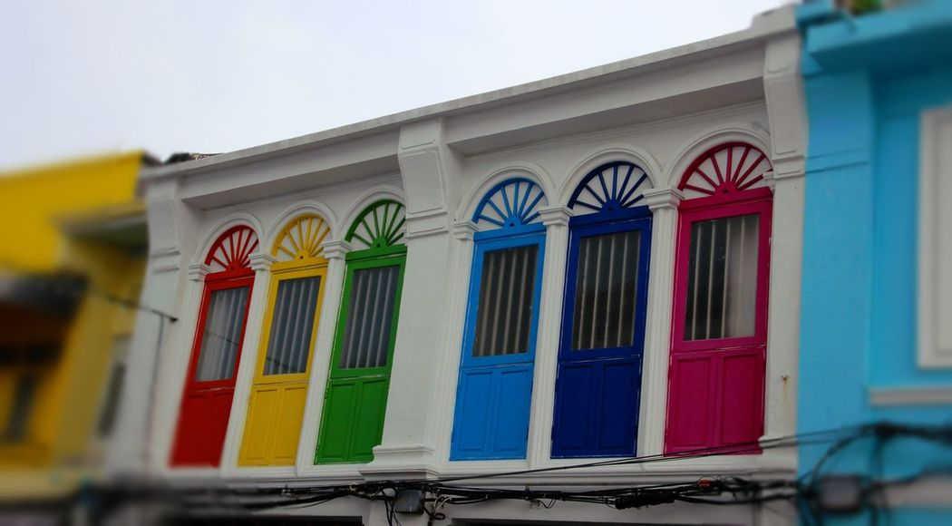 Architecture Building Exterior Built Structure Day High Doors No People Outdoors Phuket Old Town Window