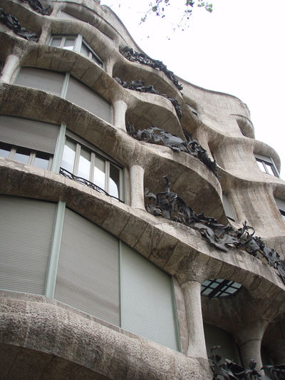 Architecture Barcelona Building Built Structure Europe Gaudi Historic Lookingup Low Angle View Sky SPAIN Trees
