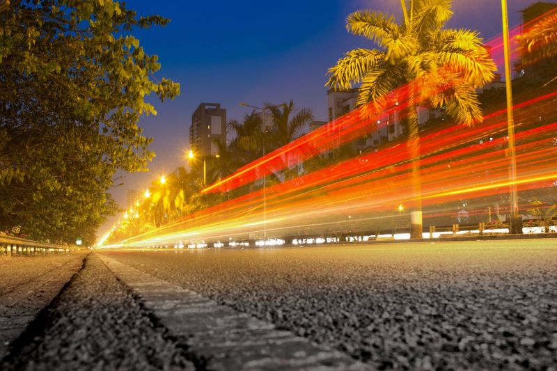 Night Light Trail Illuminated Long Exposure Road City Traffic Transportation Speed Motion Outdoors Travel Destinations Sky No People Architecture