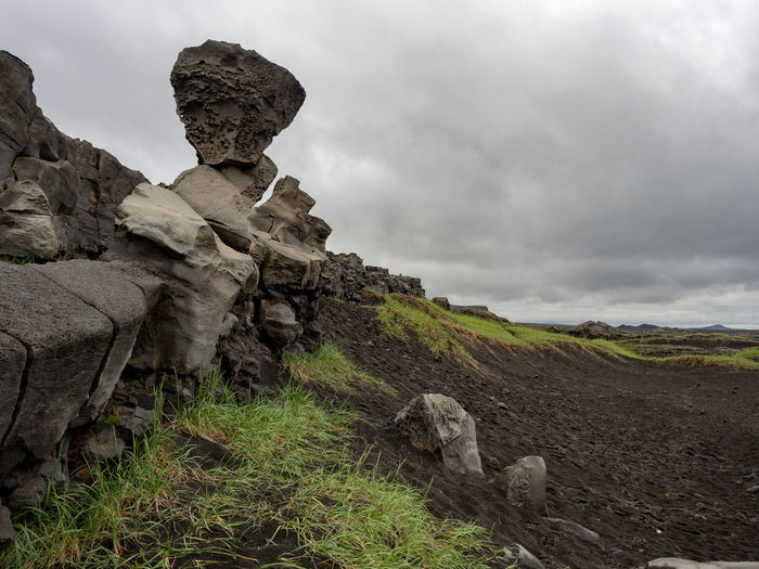 Divide between North American and Eurasian tectonic plates Cloudy Iceland Weather Environment Gloomy Lava Field Lava Rocks Nature No People Outdoors Overcast Plate Rock Rock Formation Scenics - Nature Sky Tectonic Volcanic Landscape
