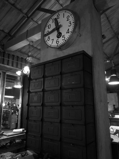 Clock Time No People Indoors  70's Style Clock Face 60's Style.... Huawei P9 Plus Antiques Vignette Monochrome